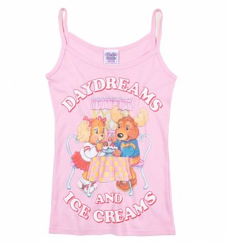 Women's The Get Along Gang Daydreams And Ice Creams Light Pink Strappy Vest