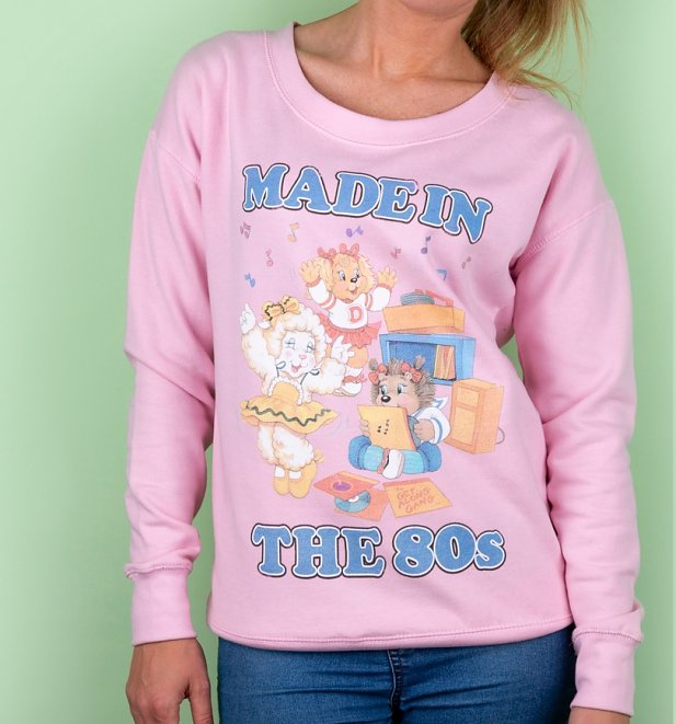 Women's The Get Along Gang Made In The 80s Baby Pink Sweater