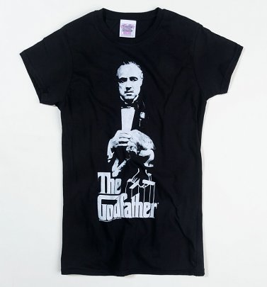 Women's The Godfather Don Corleone Black Fitted T-Shirt