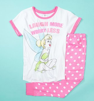 Women's Tinkerbell Laugh More Worry Less Disney Pyjamas