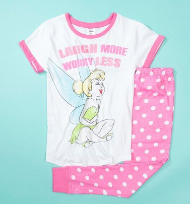 Women's Tinkerbell Laugh More Worry Less Pyjamas