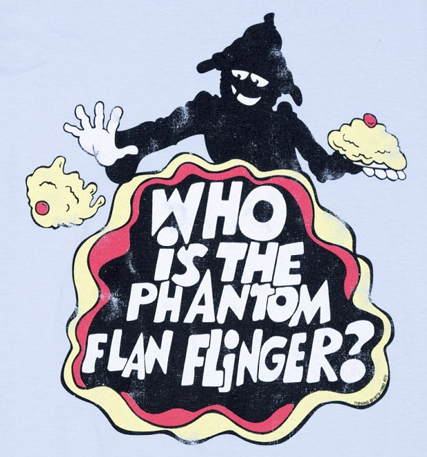 Women's Tiswas Phantom Flan Flinger Light Blue T-Shirt