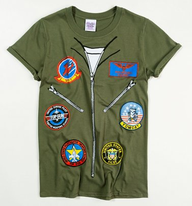 Women's Top Gun Flight Suit Rolled Sleeve Boyfriend T-Shirt