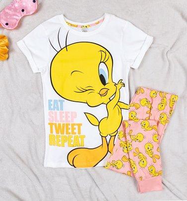 Women's Tweety Pie Eat Sleep Pyjamas