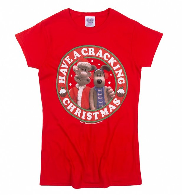 Wallace And Gromit Cracking Christmas Red T-Shirt