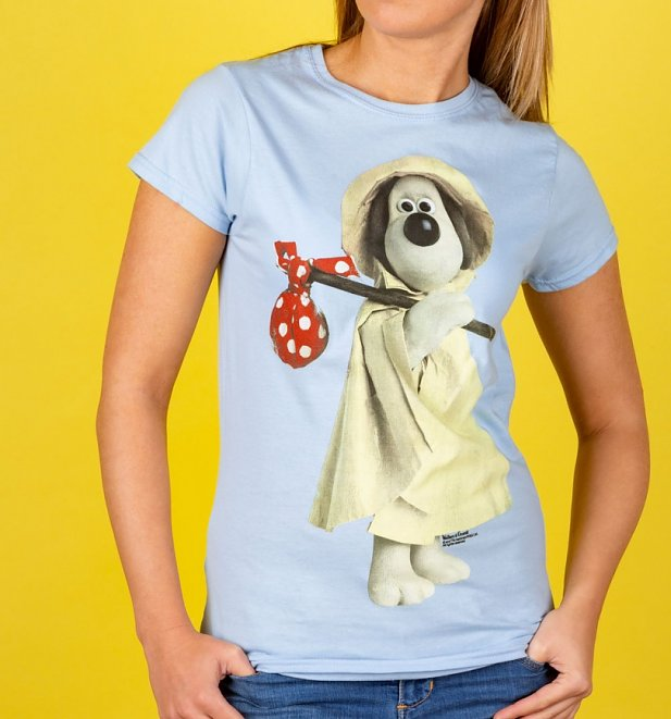Wallace and Gromit Raincoat Gromit Light Blue T-Shirt
