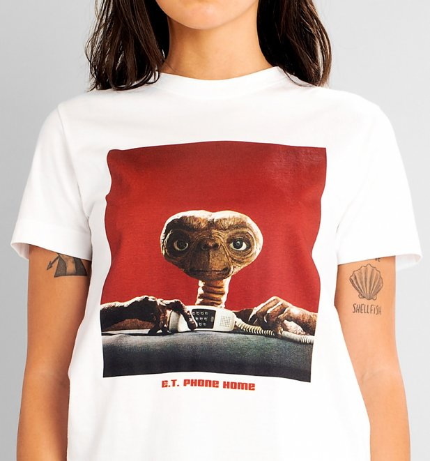 White E.T. Phone Home T-Shirt from Dedicated