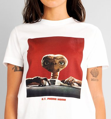 Women's White E.T. Phone Home T-Shirt from Dedicated
