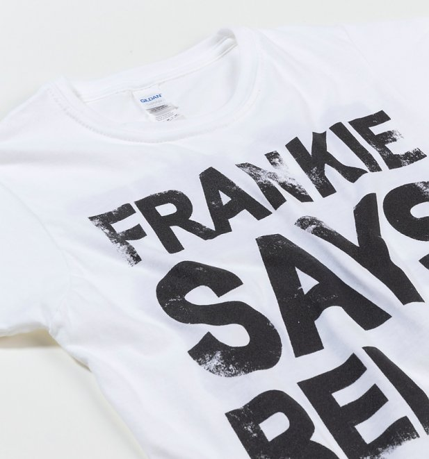 c74e87fc Women's White Frankie Says Relax T-Shirt