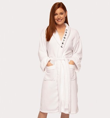 Women's White Friends Central Perk Dressing Gown