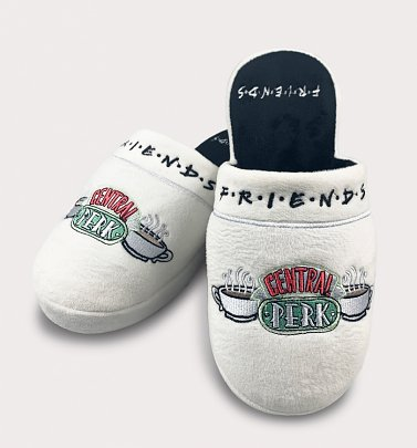 Women's White Friends Central Perk Slippers