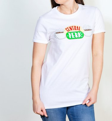 Women's White Friends Central Perk T-Shirt