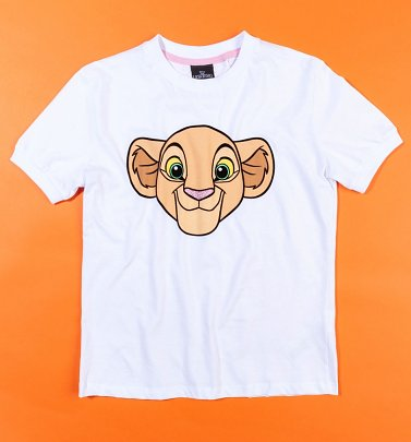 Women's White Lion King Nala T-Shirt from Difuzed
