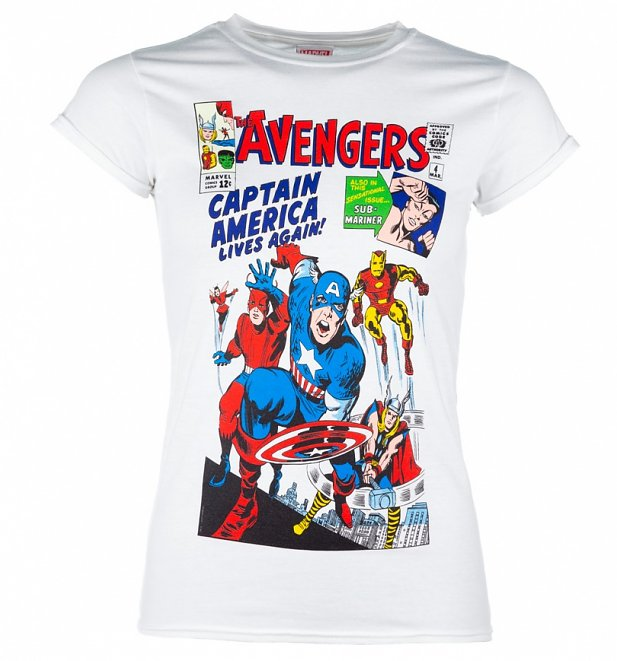 Marvel The Avengers Vintage Cover Print T-Shirt