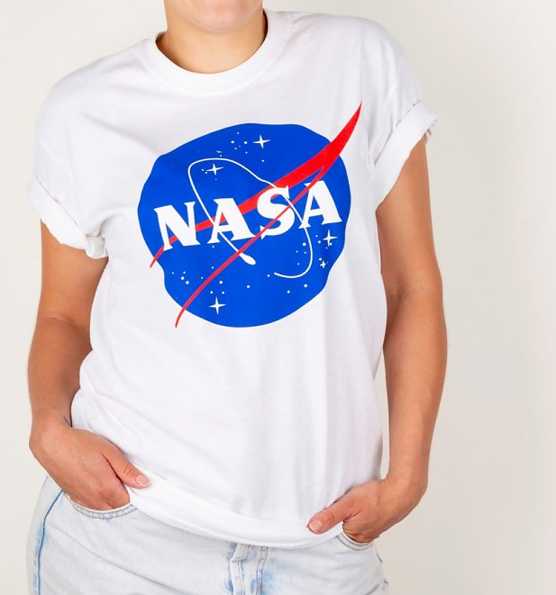 White NASA Boyfriend T-Shirt