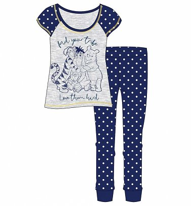 Women's Winnie The Pooh Find Your Tribe Pyjamas