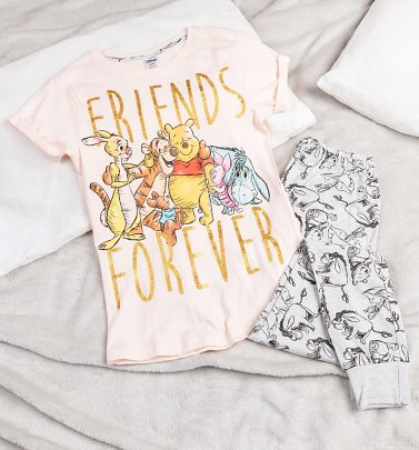 Women's Winnie The Pooh Friends Forever Disney Pyjamas