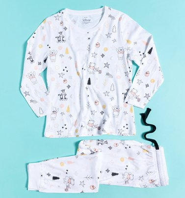 Women's Winnie The Pooh and Friends All Over Print Long Sleeve Disney Pyjamas