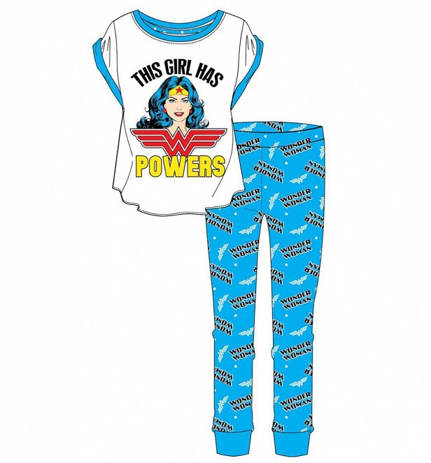 Women's Wonder Woman This Girl Has Powers Pyjamas