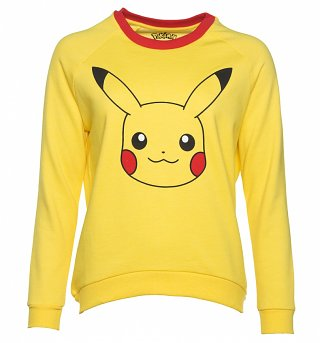 Women's Yellow Pokemon Pikachu Sweater