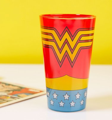 Wonder Woman DC Comics Costume Glass
