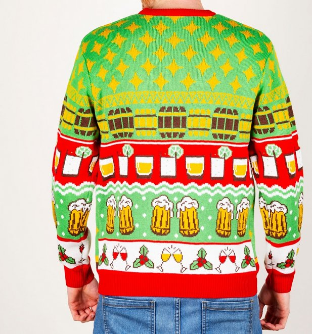 Xmas Spirit Knitted Christmas Jumper With Detachable Baubles from Cheesy Christmas Jumpers