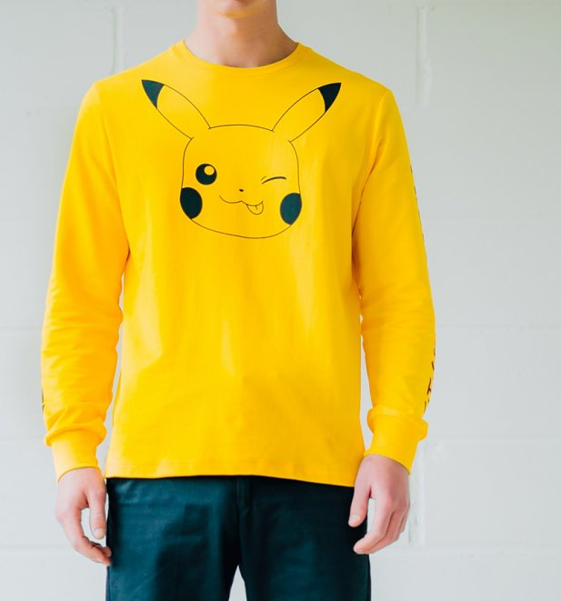 Yellow Pokemon Pikachu Long Sleeve T-Shirt from Criminal Damage