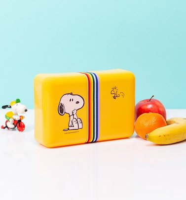 Yellow Retro Peanuts Lunch Box