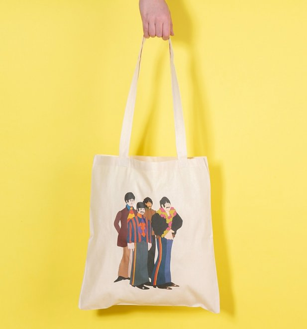 Yellow Submarine Beatles Group Tote Bag
