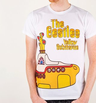 Yellow Submarine Wrap Around Print T-Shirt