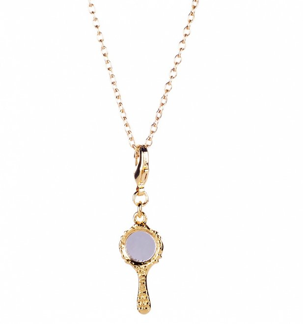 14kt Gold Plated Snow White Mirror Charm Necklace from Disney Couture