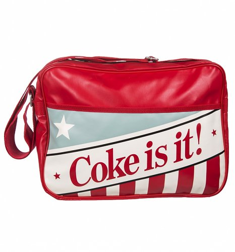 Coca-Cola Americana Coke Is It PU Messenger Bag