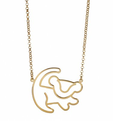 Gold Plated Simba Outline Lion King Necklace from Disney Couture