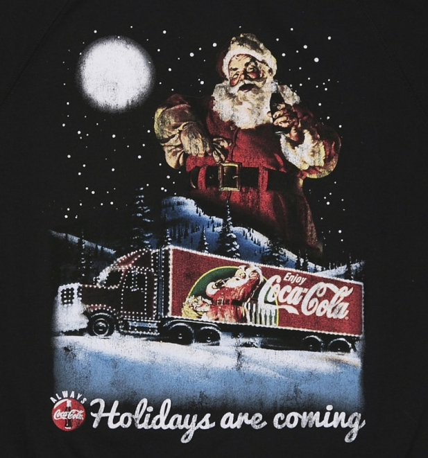 Coca-Cola 'Holidays Are Coming' leichter Herren Weihnachtspullover