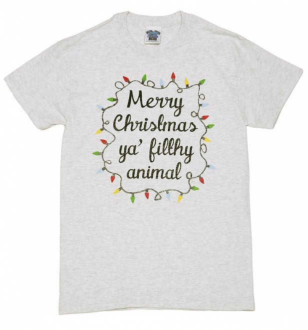 Men's Merry Christmas Ya Filthy Animal Heavyweight T-Shirt