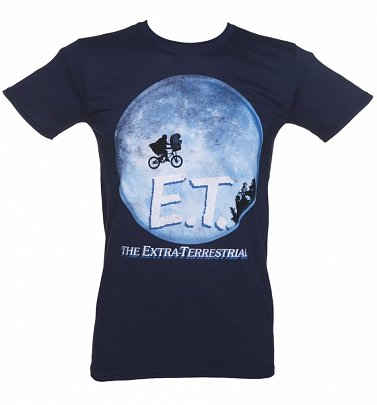 Men's Navy Classic E. T. The Extra-Terrestrial Movie Poster T-Shirt