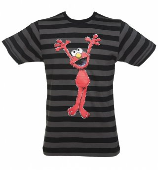 Men's Sesame Street Elmo Striped T-Shirt