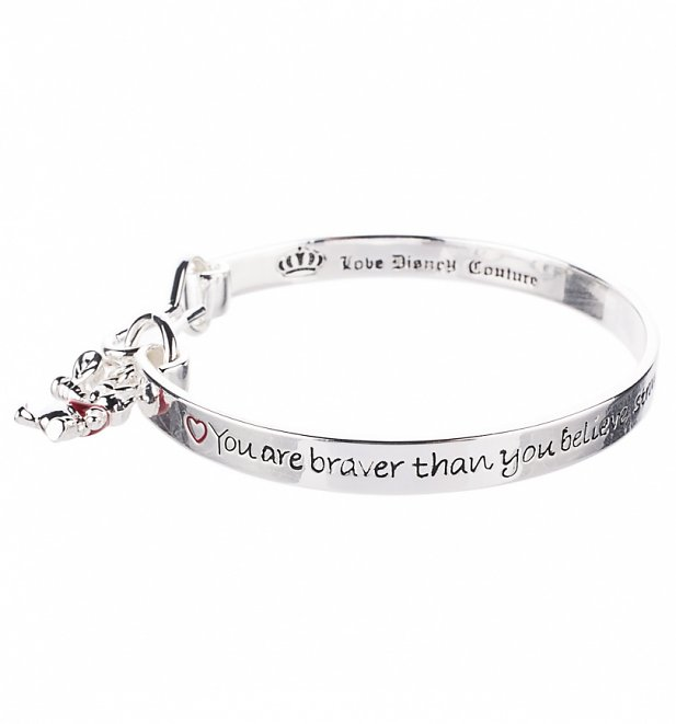 Platinum Plated Braver Than You Believe Winnie The Pooh Bangle from Disney by Couture Kingdom