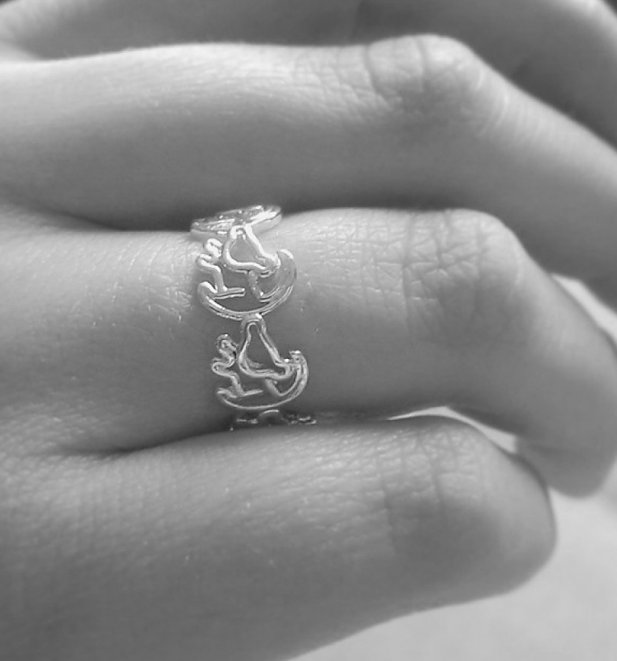 Platinum Plated Simba Outline Lion King Ring from Disney by Couture Kingdom