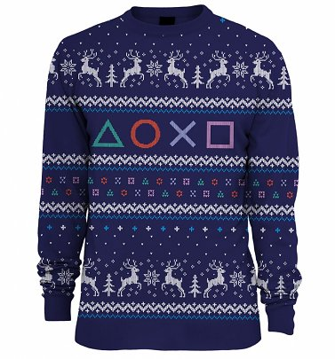 Playstation Knitted Fair Isle Jumper