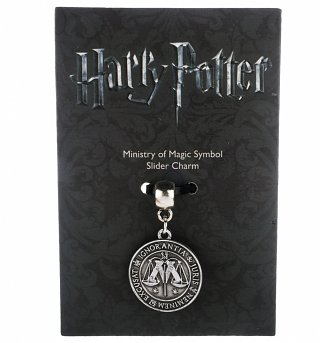 Silver Plated Harry Potter Ministry Of Magic Slider Charm
