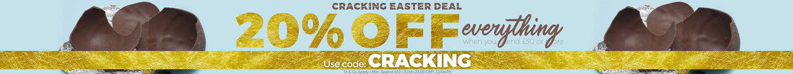 19-04 Easter 20% off Weekend