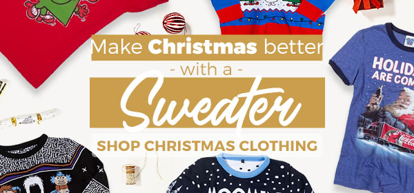 Make Christmas better with a Sweater - Shop Christmas Jumpers
