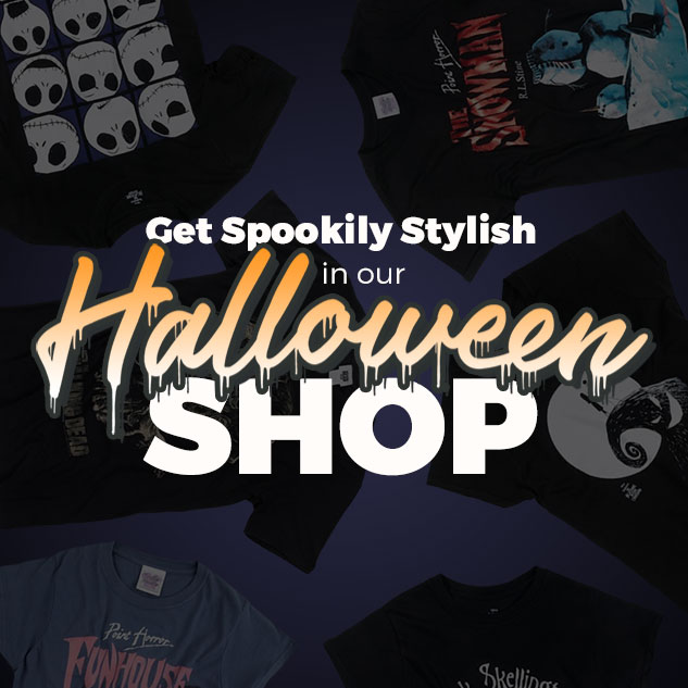 Get spookily stylish in our Halloween Shop - Shop Now
