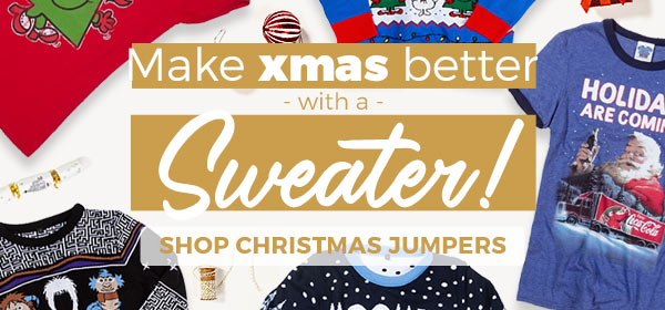 Make Christmas better with a Sweater - Shop Xmas Jumpers