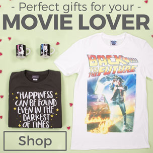 We all know that friend who's first to see the latest film release, knows every classic quote and loves nothing more than a movie megathon! Our blockbusting range of official movie T-Shirts, accessories and homewares are bound to score top ratings with the film fanatic in your life - from 80s must-sees like Top Gun to action-packed flicks with all your top Superheroes like Captain America; sci-fi masterpieces (Star Wars, anyone?) to ground-breaking works like Jaws. Just add popcorn and you'll be their favourite person EVER - top reviews guaranteed!
