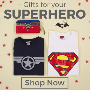 Show some super-powered appreciation for the hero in your life with our epic collection of Superhero Gifts! Whether they're Marvel mad or devoted to all things DC Comics, our Superhero T-Shirts, clothing, accessories and homewares make perfect presents for Superhero fans to show their admiration (or bring out their inner hero!). From DC's Superman, Batman, Wonder Woman and Suicide Squad to Marvel's Captain America, Deadpool and Avengers, they're totally authentic, official and packed with POW!