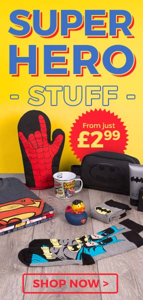 Look at our super collection of shirts, gifts and accessories for your own superheroes.