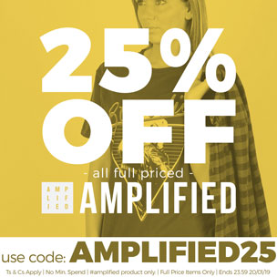 25% off all full priced Amplified - Use Code: AMPLIFIED25