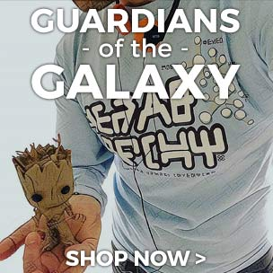 Shop our Guardians of the Galaxy t-shirts and accessories, they're out-of-this-world!